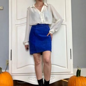 Vtg Leather Skirt
